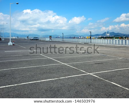 Outdoor car park - stock photo