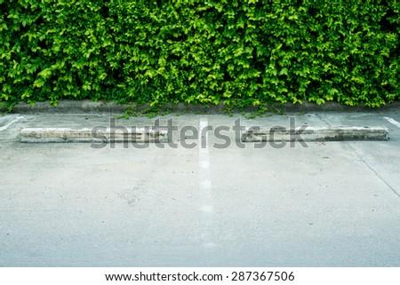 outdoor car park. - stock photo