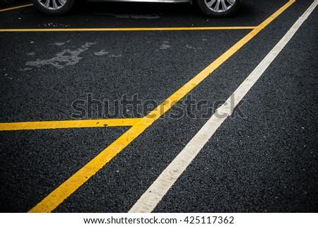 outdoor car parking lot - stock photo