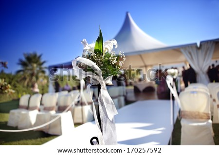 Outdoor ceremony - stock photo