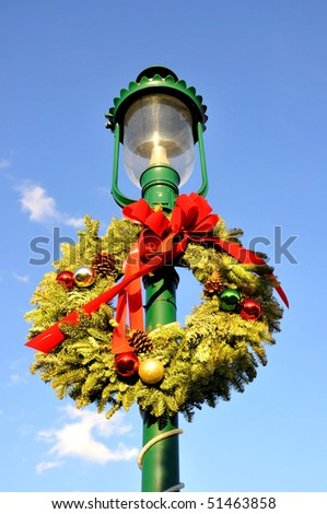 Outdoor Christmas decorations - stock photo