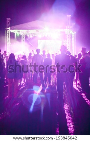 outdoor concert bright and loud 2 - stock photo
