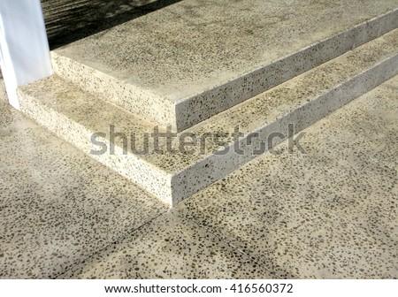 Outdoor Concrete Steps - stock photo
