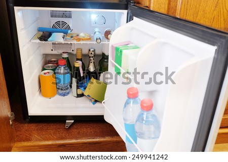 Outdoor mini bar in room - stock photo