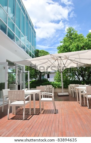 outdoor of restaurant - stock photo