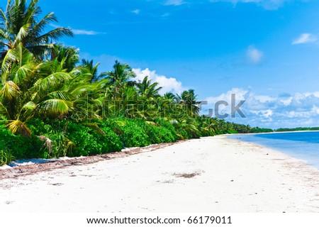 Outdoor Paradise Beach - stock photo