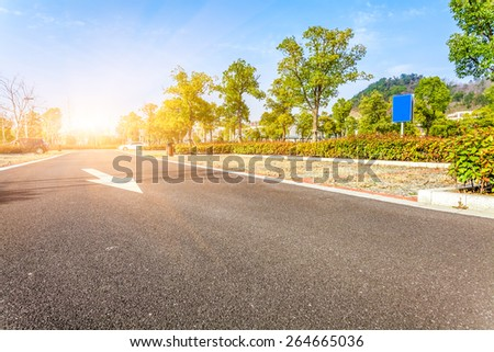 Outdoor parking road - stock photo