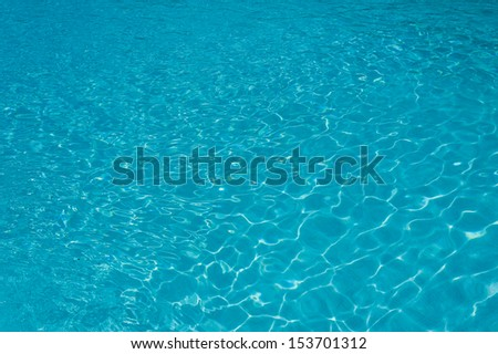 Outdoor resort pool Swimming pool of luxury hotel. Swimming pool in luxury resort near the sea. Tropical Paradise. Swimming pool in spa resort. Dominican Republic, Seychelles, Caribbean, Bahamas. - stock photo