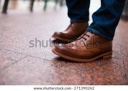outdoor shoes men man  - stock photo
