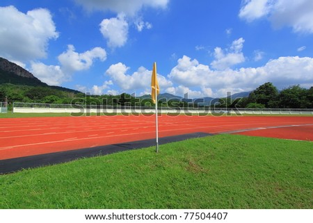 Outdoor sports with blue sky.