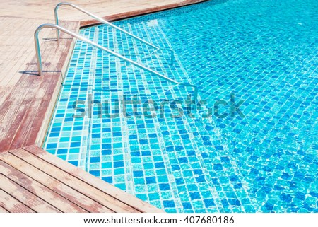 Outdoor Swimming pool in hotel resort