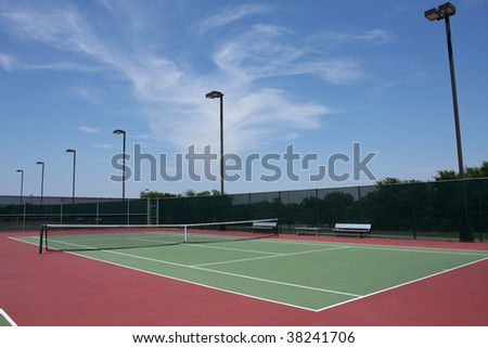 Outdoor Tennis Court Facility
