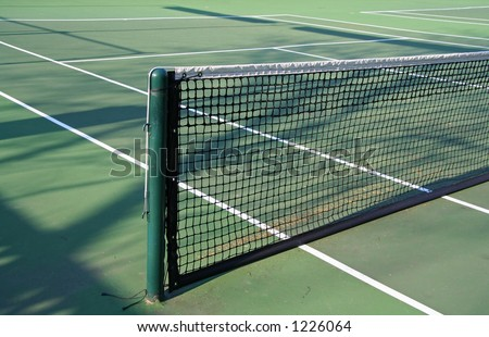 Outdoor Tennis Net - stock photo