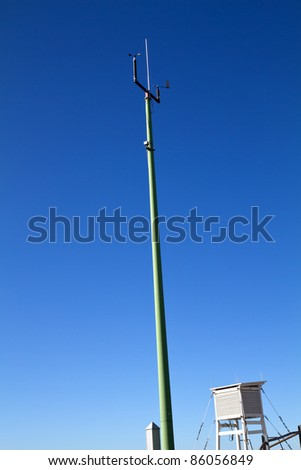 Outdoor weather station instruments - stock photo
