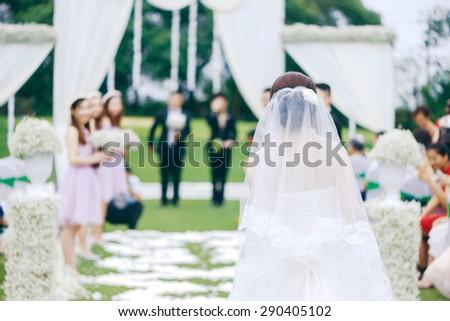 Outdoor wedding - stock photo
