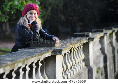 Outdoor Winter Fashion Portrait - stock photo