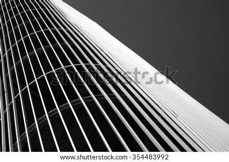 Outdoors metallic structure - stock photo