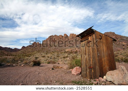 Outhouse in the Las Vegas Desert, Landscape - stock photo
