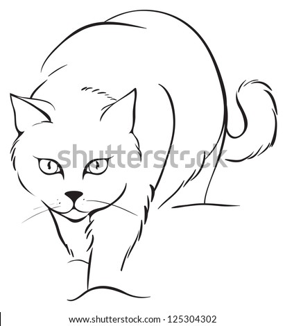 cat outlines stock images, royalty-free images & vectors