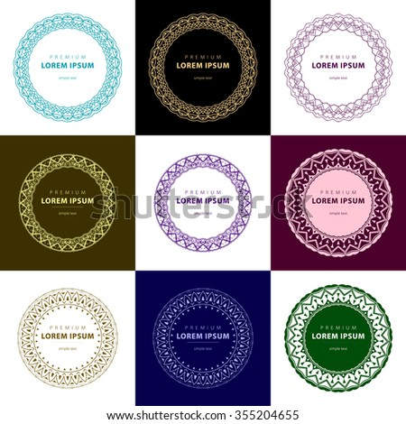Outline emblems badges abstract logo templates stock illustration outline emblems and badges abstract logo templates blank template quote circle empty template reheart Choice Image