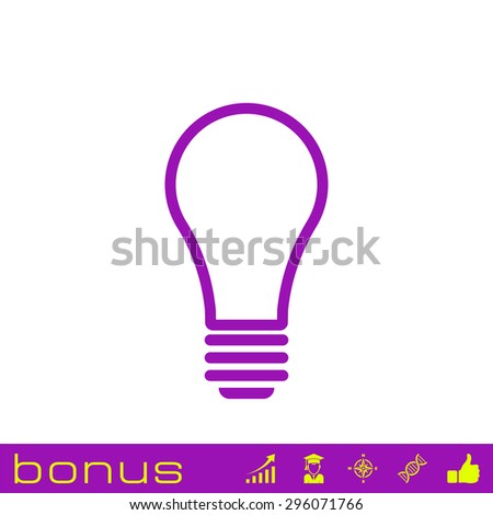 outline light bulb icon - stock photo