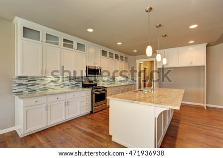 Outlook At The Luxury Modern Kitchen In A Brand New House Interior Design Northwest