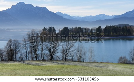Outlook Lake and Alps