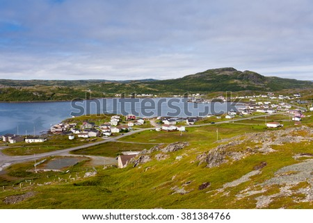 Outport village of Goose Cove just South of St. Anthony, Newfoundland, NL, Canada - stock photo