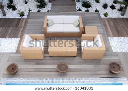 Outside Interior - stock photo