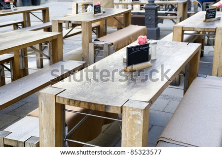 Outside rustically restaurant - stock photo
