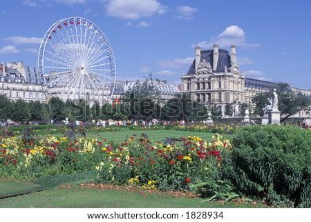 Outside the Louvre, Paris - stock photo