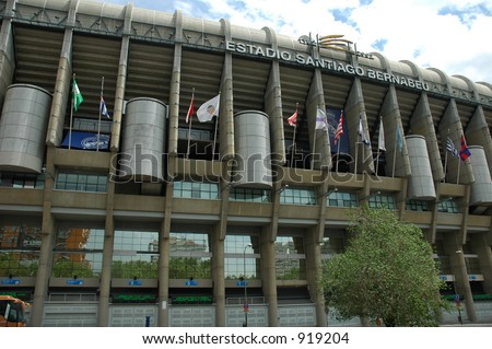 Outside the Stadium - stock photo