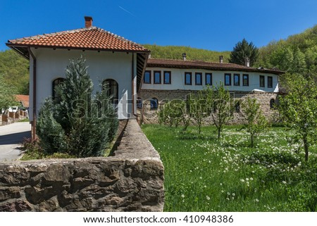 Outside view of Temski monastery St. George, Pirot Region, Republic of Serbia