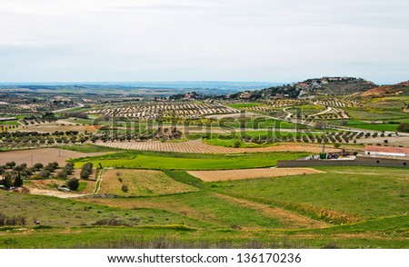 Outskirts of old town Chinchon in Spain - stock photo