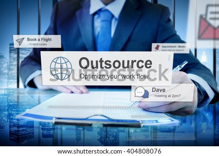 Outsource Task Contract Work Supplier Concept - stock photo