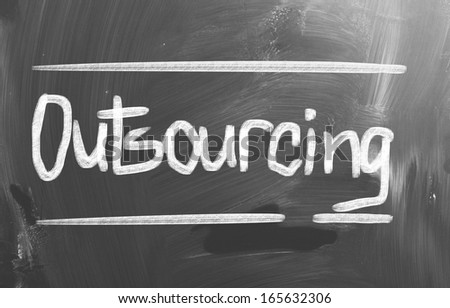 Outsourcing Concept - stock photo