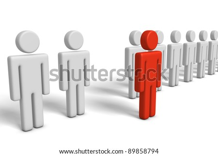 Outstanding person - stock photo
