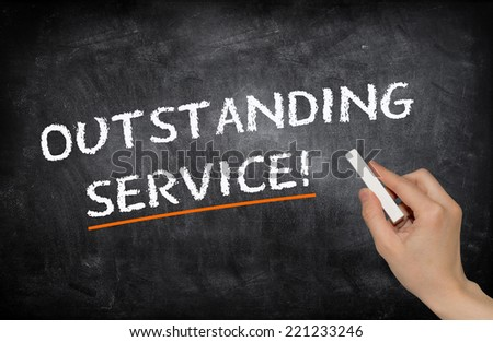 Outstanding service - stock photo