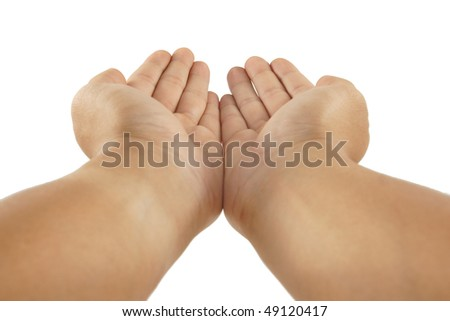 Outstretched Palms - stock photo