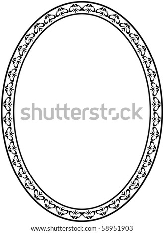 Oval frame - stock photo