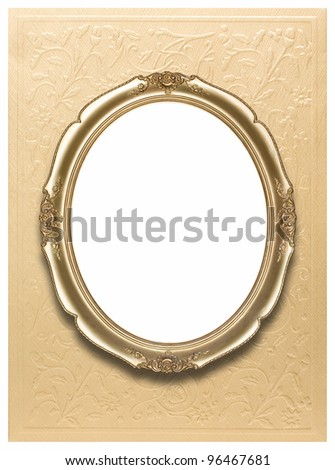 Oval photo frame (clipping path!) - stock photo