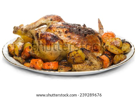 Oven Fried  Chicken  - stock photo
