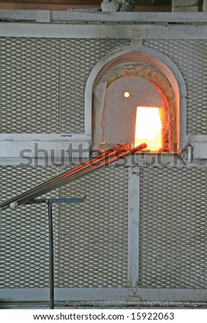 oven, Glass kiln - stock photo