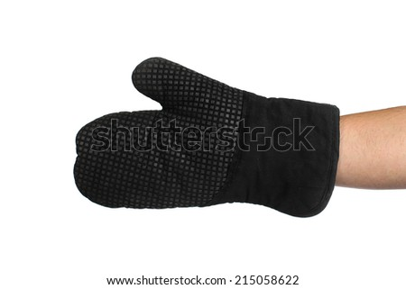 oven mitt on a white background - stock photo