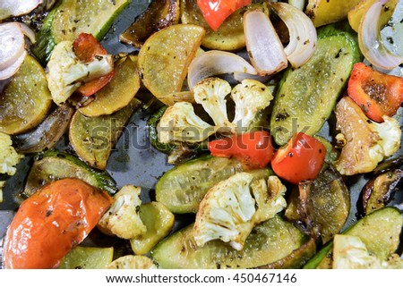 Oven Roasted Vegetables with Pan