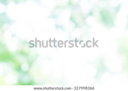 Over blur forest and sky and flower with De focused Bokeh background art for paper texture, art design, backdrop design. green summer, green ecology concept. - stock photo