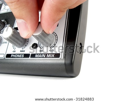 Over loud music - stock photo
