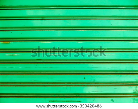 Over view to roller shutter door background