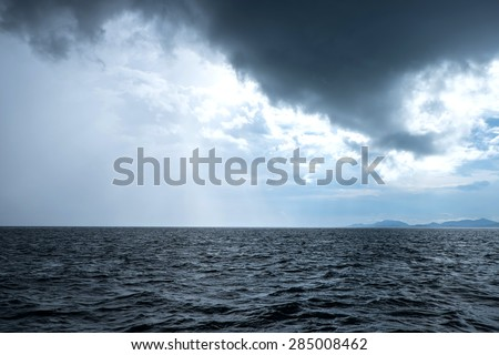 Overcast sea ,Storms at sea - stock photo