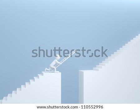 overcoming obstacles - stock photo